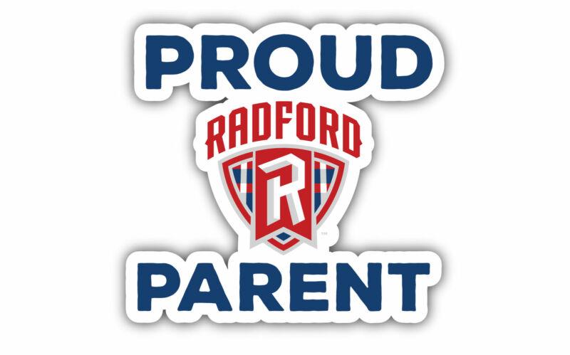 "Radford University Highlanders 4"" Laser Cut Proud Parent Decal"