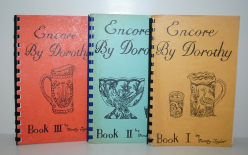 Encore By Dorothy Books I II III By Dorothy Taylor Carnival Glass First Printing