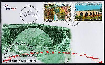TURKEY 2014, HISTORICAL BRIDGES  BRIDGE  FDC