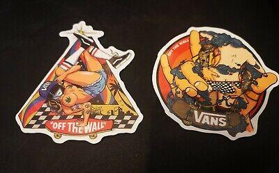 X2 Vans Shoes Off The Wall Vinyl Stickers Skate Skateboarding/Scooter/Laptopp