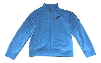 Boys Zip Front Track Jacket - Nike Boys Size 6 Blue Zip Front Track Jacket Hoodie RETAIL RETURN -  FREE SHIP