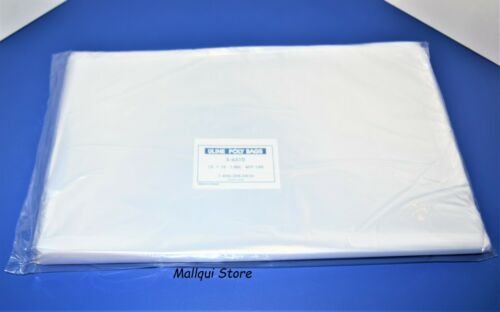 100 CLEAR 12 x 15 LAY FLAT OPEN TOP POLY BAGS PLASTIC PACKING ULINE BEST 1 MIL