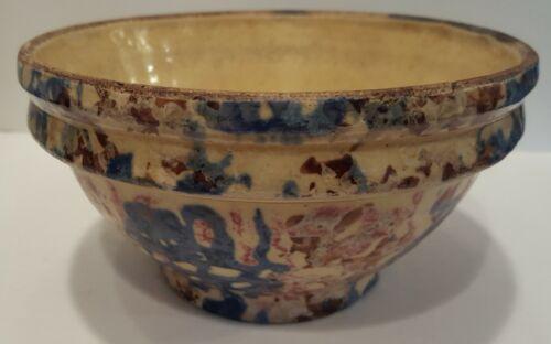 Sponge ware Bowl Pottery Stoneware Antique