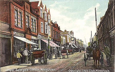 Kingstown. Lower George's Street by Chas. Cook, Kingstown.