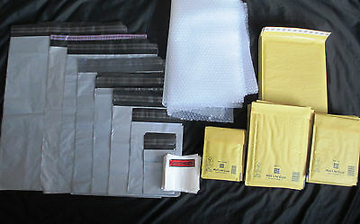 POSTAGE/PACKAGING KIT MIXED SIZE  PADDED ENVELOPE MAILING BAGS BUBBLE WRAP