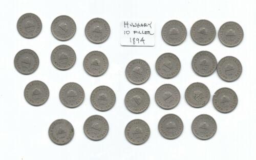Lot 1010: Hungary 1894 10 Filler circulated (1 coin)