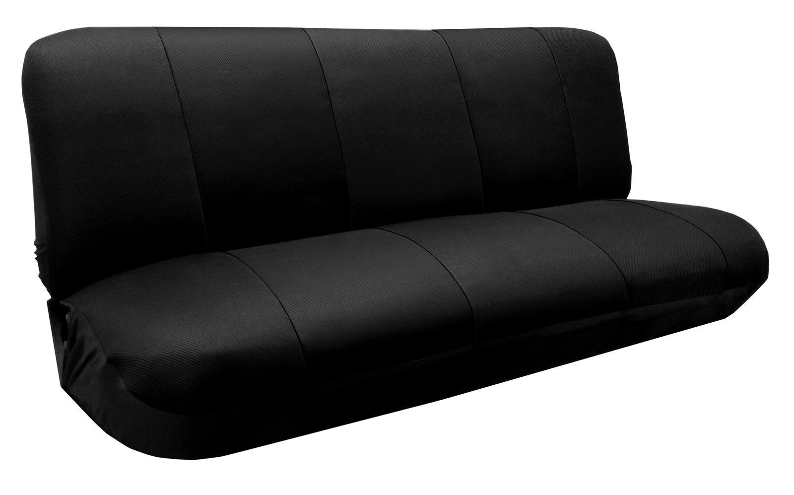 Vehicle Bench Seat ~ Mesh knit polyester solid black seat cover full size bench