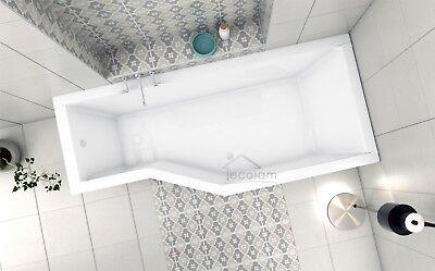 Badewanne Wanne Raumspar eckig Rechteck Acryl Ablauf 170 x 75 cm Schürze rechts