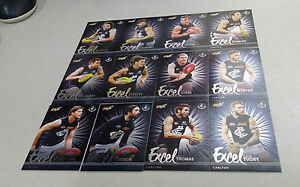 2016 AFL SELECT FOOTY STARS 12 CARD CARLTON BLUES EXCEL PARALLEL TEAM SET