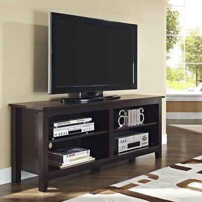 Espresso TV Stand Home Entertainment Media Audio Storage Cabinet Center 60 inch Espresso 60 Audio