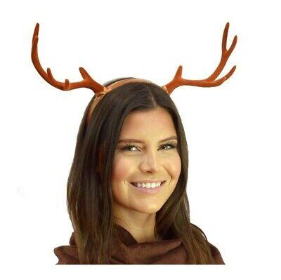 Brown Deer Antlers Headband Gothic Creature Animal Reindeer Fairy Horns DIY](Diy Reindeer Antlers)
