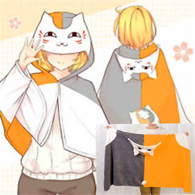 Anime Natsume's Book of Friends Natsume Yuujinchou Nyanko Costume Cloaks - Costume Book