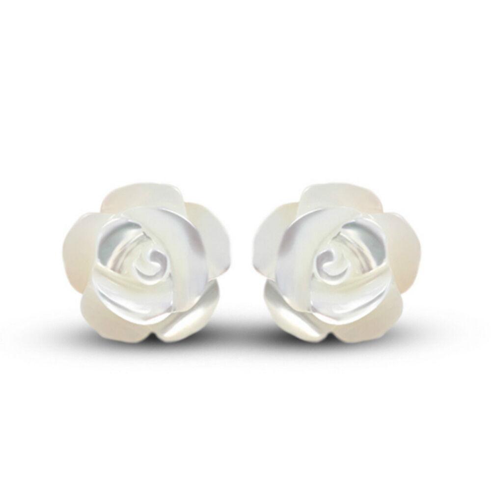 Fashion Women Solid 925 Sterling Silver Flower Shape Ear Stud Earrings Jewelry Earrings