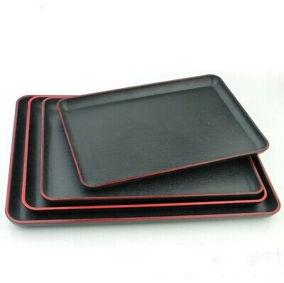 JapanBargain Plastic Serving Tray Red / Black Different -