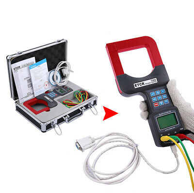 Three Phase Clamp Power Meter Ac Voltage Current Leakage Tester Rs232