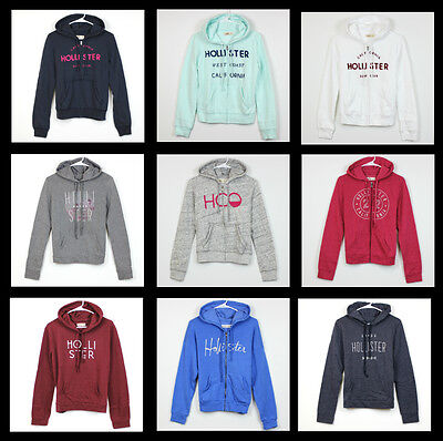 New Hollister by Abercrombie Women Zip up Pull over Hoodie sweatshirt All Size