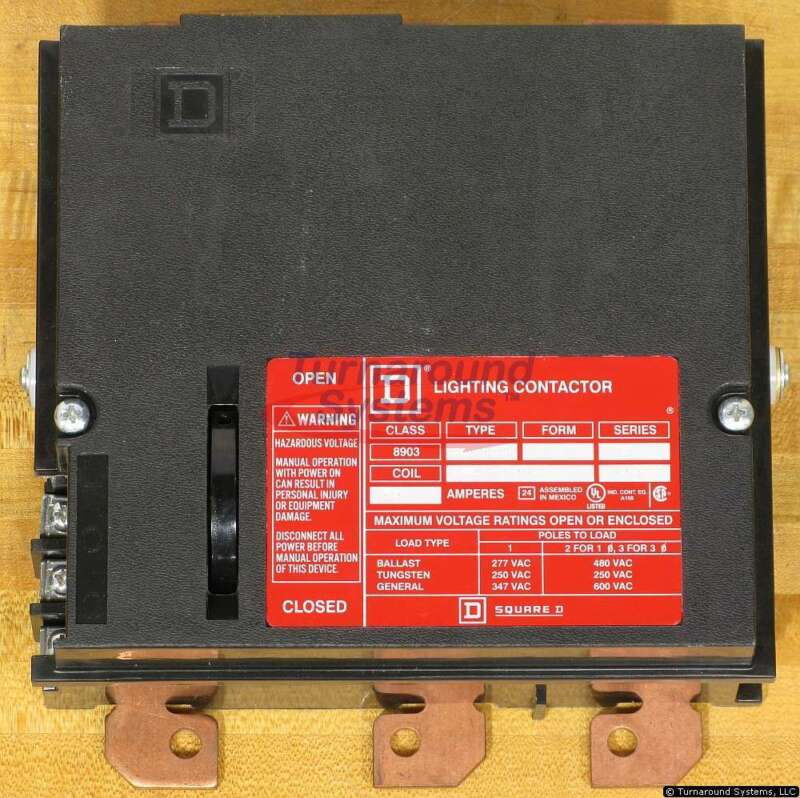 Square D 8903PBP11BV02 Panelboard Lighting Contactor, 60 Amp, 120 VAC Coil, NEW!
