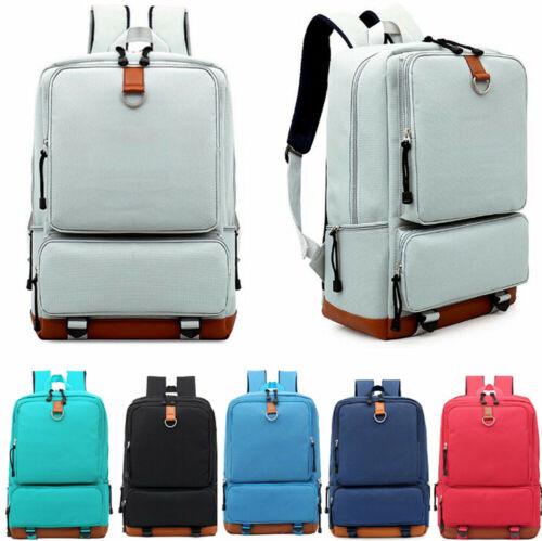 Women's Canvas Backpack School Travel Rucksack Laptop Satche