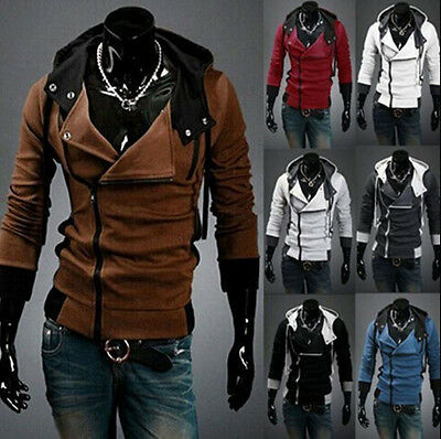 Men Stylish Creed Cool Slim Jacket Costume Hoodie Coat Cosplay For Assassins - Stylish Costumes For Men