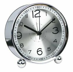 4-inch Table Clock Ultra-quiet Metal Small Alarm Clock, Classic