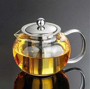 45 Oz Glass Teapot Set Stylish Tea Kettle For Loose Leaf Tea