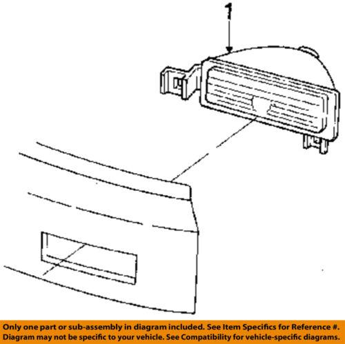 Pontiac GM OEM 89-91 Grand Am-Park Lamp Left 5975043