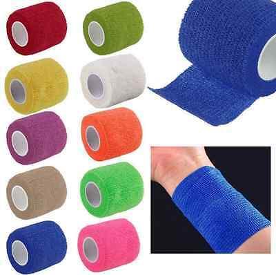5cm Sport Elastic Self Adhesive Wrist Finger Bandage Tape First Aid Strap (Adhesive Sports Tape)