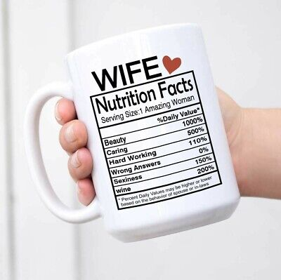 Wife Nutrition Facts Mug Valentines Day Gifts for Wife Her Best Wife Gifts Wife