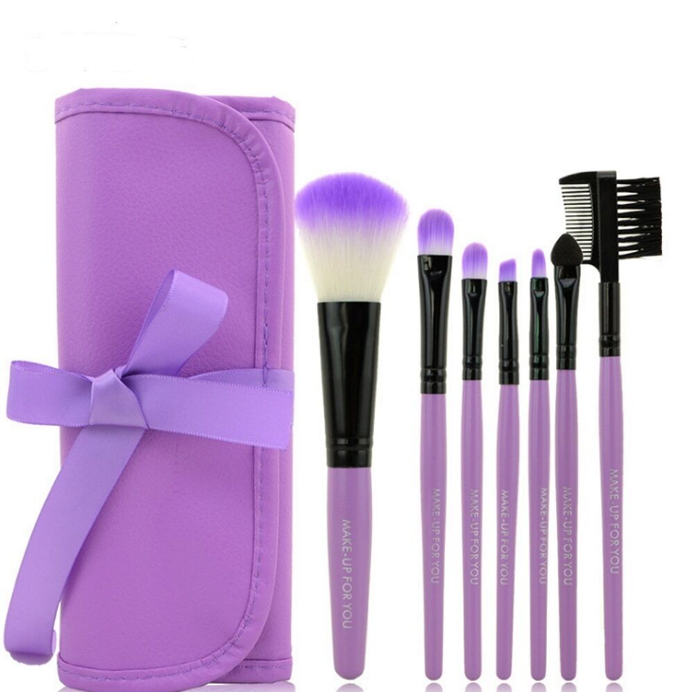 Pro 7 Pcs Makeup Brushes Set Powder Foundation Eyeshadow Eyeliner Lip Cosmetic Health & Beauty