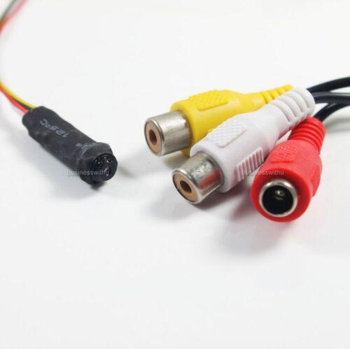 480TVL Mini Wired Spy Hidden Module Pinhole Security Camera Video Color IR Cam