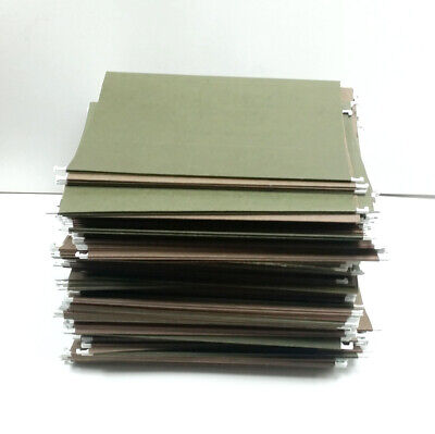 Green Hanging Folders With Tabs Slightly Used - Letter Size - Lot Of 250