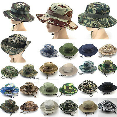 Bucket Hat Boonie Hunting Fishing Outdoor Wide Brim Safari Camo Sun Cap](Camo Bucket Hats)
