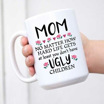 Mother's Day Cups (Mothers Day Gift Mom Funny Coffee Mug from Daughter Son - Novelty Cup Birthday)