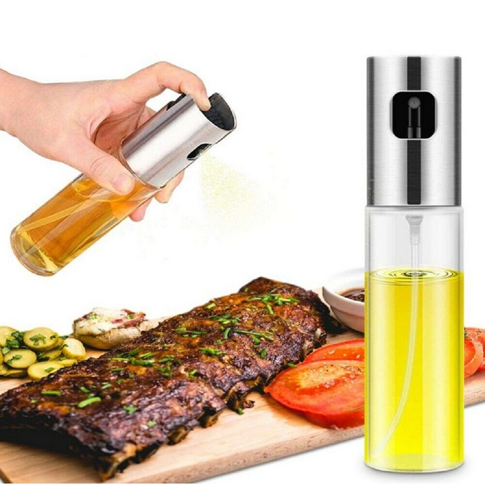 Stainless Olive Oil Sprayer Cooking Mister Spray Pump Fine Bottle Kitchen US