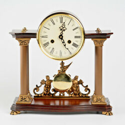 vintage German 1968 wood nautical marine Mantel clock FHS movement