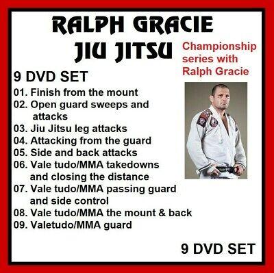 Ralph Gracie Jiu Jitsu 9 dvd set Championship Training Series with Ralph Gracie