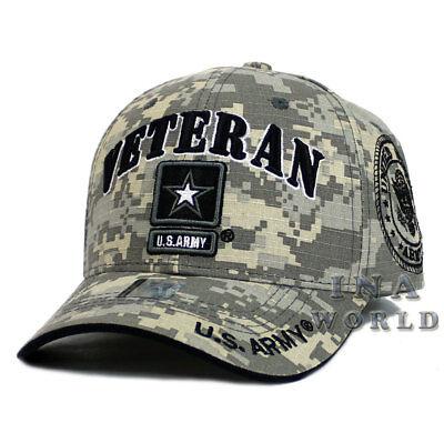 U.S. ARMY hat ARMY STRONG VETERAN Military Licensed Baseball cap- Digital Camo