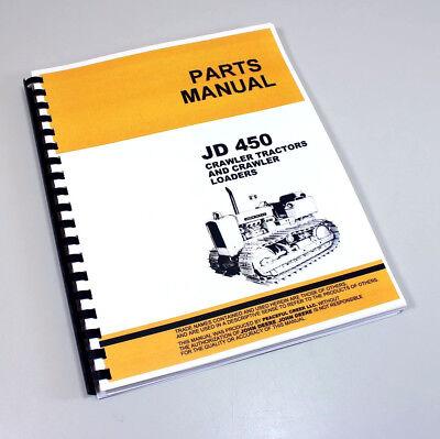 Parts Manual For John Deere 450 Crawler Tractor Dozer Loader Catalog Exploded