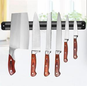 Wall Mount Magnetic Knife Storage Holder Chef Rack Strip Utensil Kitchen  Tool