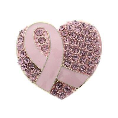 Breast Cancer Survivor Pin Heart Ribbon Hat or Lapel Pin Brooch Broach Pendant