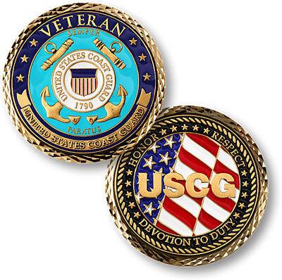Coast Guard Challenge Coin - NEW USCG U.S. Coast Guard Veteran Challenge Coin.
