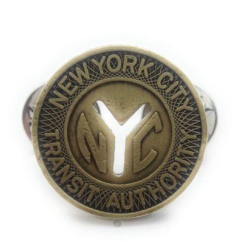 NYC SUBWAY TOKEN JACKET BADGE  HAT BADGE
