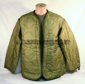 US-Military-Cold-Weather-M65-Field-Jacket-Coat-Liner-Quilted-XS-S-M-L-XL-EXC