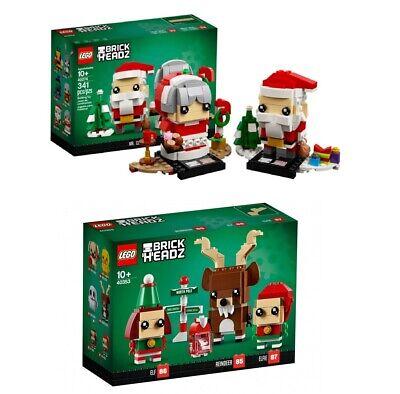 Lego Brickheadz Factory Sealed Set New NIB Seasonal Christmas Sant Claus + Elfs