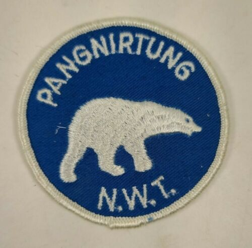 """Pangnirtung Northwest Territories Canada Polar Bear Embroidered Patch NEW 3"""""""