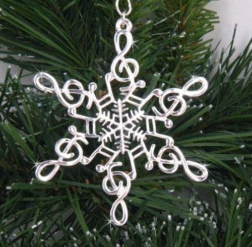Pewter Music Note SnowWonders® Snowflake