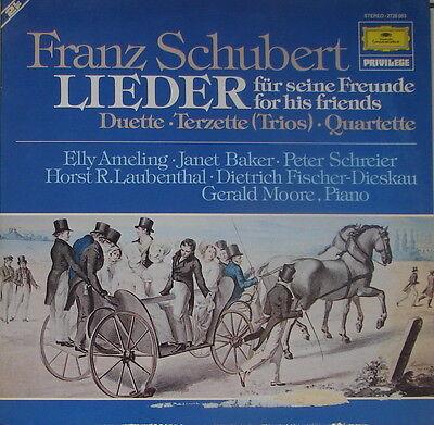 SCHUBERT Duette Terzette Quartette - AMELING BAKER SCHREIER DIESKAU - MOORE DLP