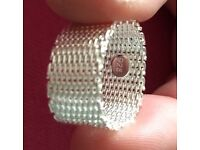 Woven chain mail ring