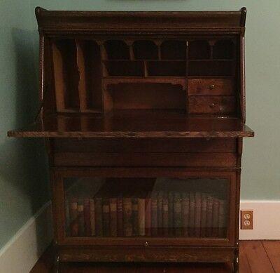Beautiful  Antique  Barrister Bookcase  And Secretary Desk