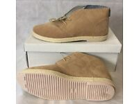 LAMBRETTA Mona Beige Real Suede Casual Walking Ankle Boots Shoes